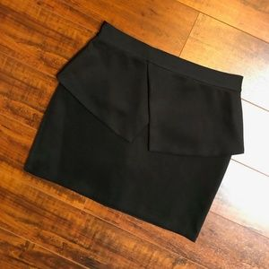 FOREIGN EXCHANGE Steampunk Runway Black Mini Skirt